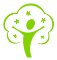 cartoon tree icon vector image vector image