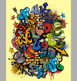 Graffiti alphabet Vector Image