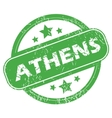 Athens green stamp vector image