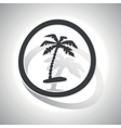 Curved vacation sign icon vector image