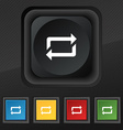 repeat icon symbol Set of five colorful stylish vector image