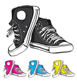 A pair of sneackers vector image vector image