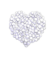 Blueberry heart shape vector image