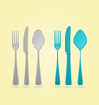 cutlery concept vector image