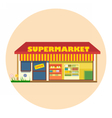 Digital super market building icon vector image