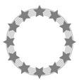 european union symbol in grey tones vector image