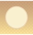 Golden background with beige round label Eps 8 vector image