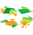 green and orange corporate element colorful vector image