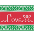 Knitting love card vector image