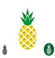 Pineapple logo Geometric sharp corners style logo vector image