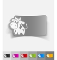 realistic design element cow vector image