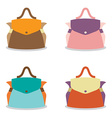 Set of Colorful Women Bag on White Background vector image