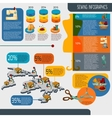 Sewing Infographics Set vector image