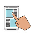 smartphone with app page icon image vector image