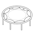 Trampoline jumping icon outline style vector image