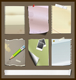 Paper collections design background vector image