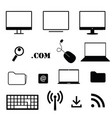 computer icon technology set in black color vector image