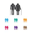 of relatives symbol on senior vector image