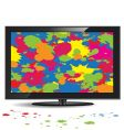 television set vector image vector image