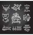 Jewelry Chalkboard Emblems vector image