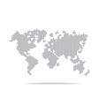 Dot world map isolated on the white background vector image