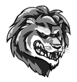 Lion mascot monochrome team label design vector image