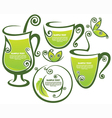 healthy drinks vector image