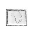 africa map icon vector image