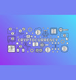 cryptocurrency colorful - bitcoins vector image