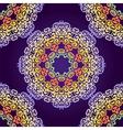 Delicate swirl mandala seamless pattern vector image
