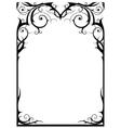 Fantasy frame vector image