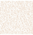 Leopard print seamless pattern vector image