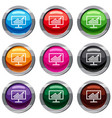 statistics on monitor set 9 collection vector image