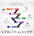 valentines day arrow infographic vector image
