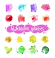 Watercolor Splashes Set vector image