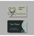 Business card collection with floral ornament vector image