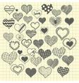 sketchy heart vector image