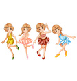 Four fairies in beautiful outfit vector image vector image