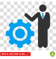 Engineer And Gear Eps Icon vector image