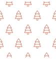Xmas tree simple seamless pattern vector image vector image