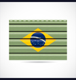 Brazil siding produce company icon vector image