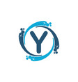 water clean service abbreviation letter y vector image