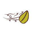 tree leaf in the wind vector image