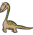 apatosaurus dinosaur cartoon vector image