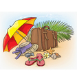 Traveling by sea summer composition vector image vector image