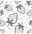Seamless strawberry pattern Berry vector image vector image