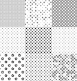 different seamless patterns vector image