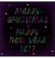 Christmas and New Year space card vector image