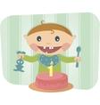 cute baby celebrating birthday vector image
