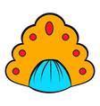 kokoshnik icon cartoon vector image